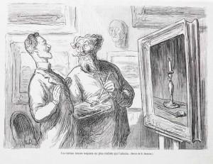 Honoré Daumier. Ein Realist findet immer einen besseren Realisten... (Lithographie, ca. 1855)