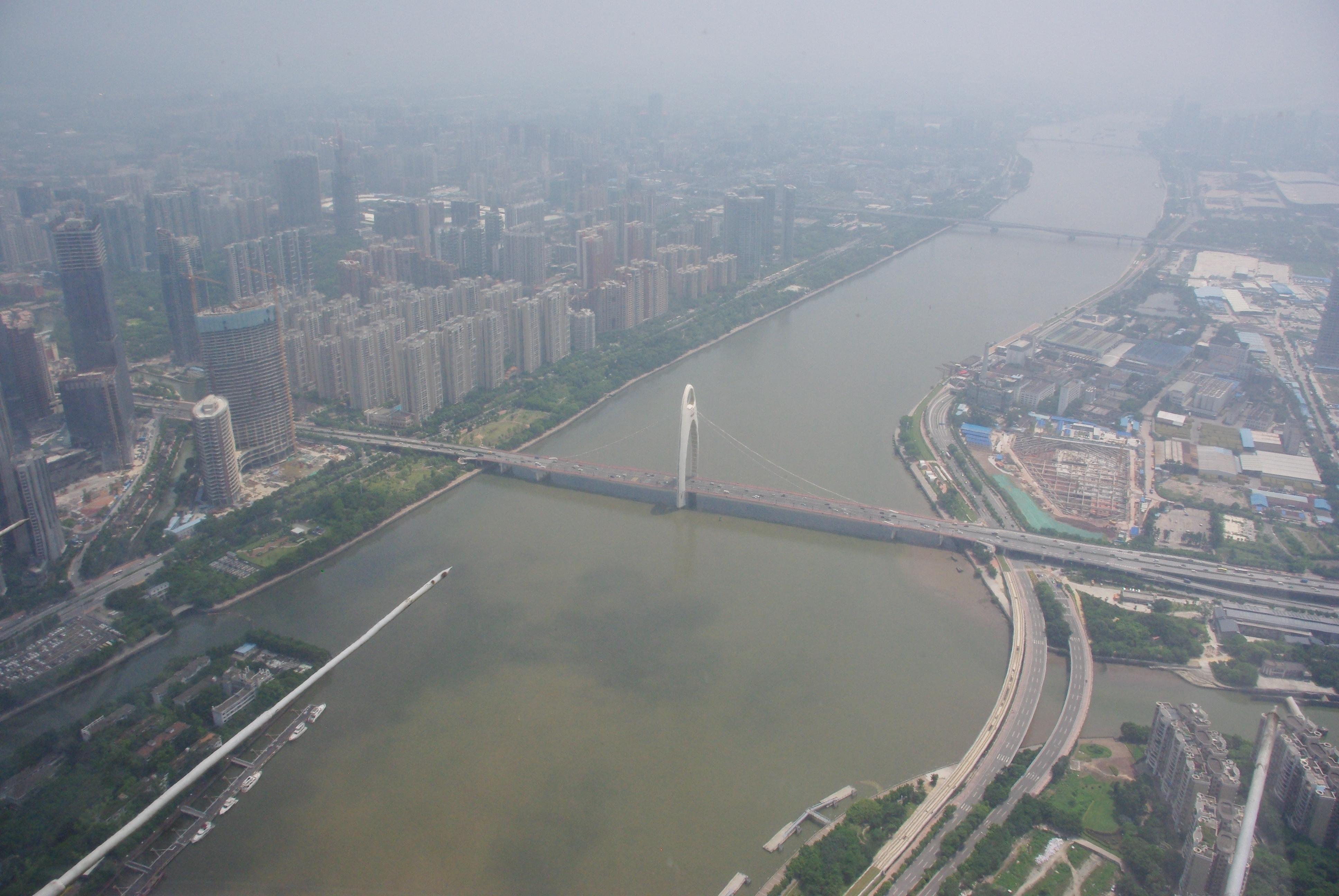 Guanzhou von oben
