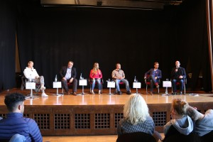 Auf dem Podium diskutieren: Jessica Purkhardt (Die Grünen/B 90),