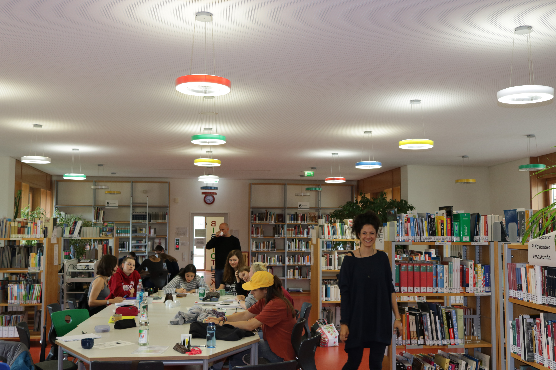 Kreativsein in der Bibliothek der Ricarda-Huch-Schule