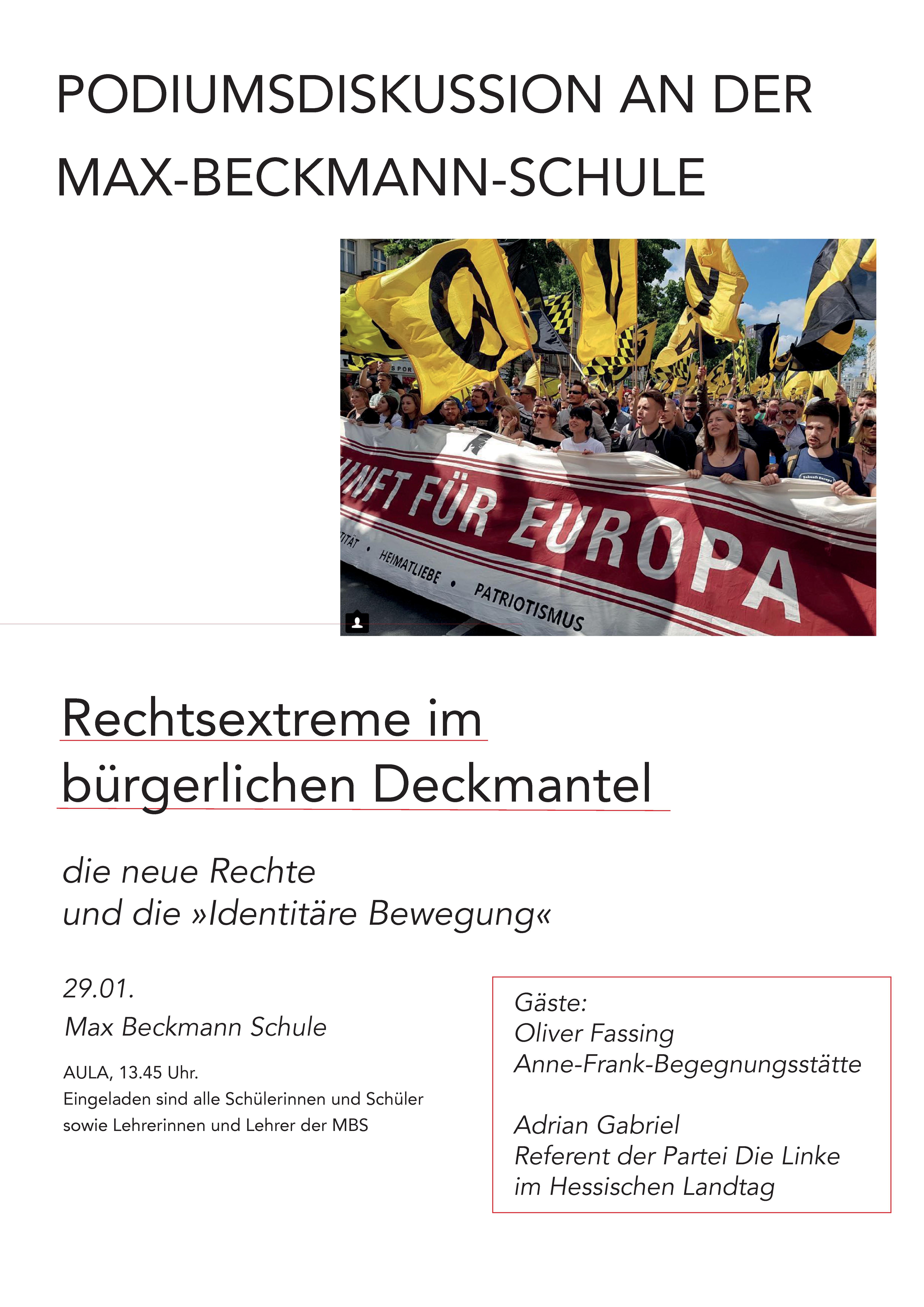 Plakat zur Podiumsdiskussion